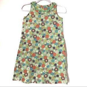 Hanna Andersson green floral dress size 140